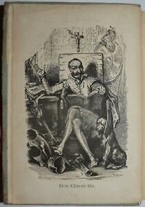 DON CHISCIOTTE - fig. 1870 - Cervantes - poema - molte XILOGRAFIE