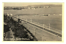 Esplanade & Docks - Durban Photo Postcard c1940's