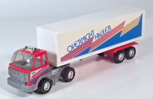 "Vintage Nylint Overnight Hauler COE Semi Box Truck 10"" Scale Model Metal Muscle"