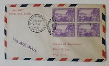 US Virgin Islands fdc cover airmail Fleet Marine Force duplex block of 4 to NY