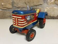 Altes Blechspielzeug GAMA Traktor Bulldog Selbstfahrend