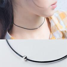 Choker Halskette Kugel echt Sterling Silber 925 Schwarz Halsband