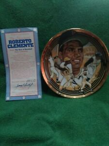 1992 roberto clemente collectable Plate #2915B