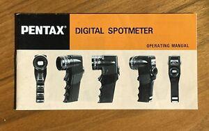 Pentax Digital Spotmeter Operating Manual -Original