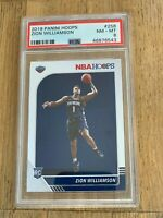 2019 Panini NBA Hoops Zion Williamson Pelicans Rookie Card PSA 8 NM RC #258