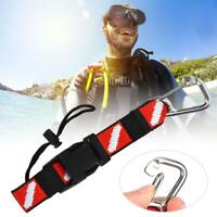 BCD Scuba Diving Gear Keeper Holder Band Lanyard & Safety Buckle Clip Hook Hot