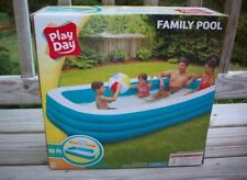 Play Day 10 Ft Family Pool Inflatable 120 x 72 x 22 in Brand New - Ships Asap