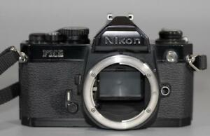Nikon FM2 Black camera body only with Titanium Shutter - Nice & Tested - Ex+!