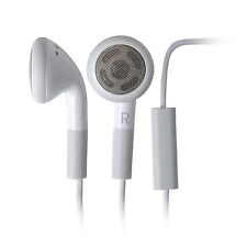 Earbud Headphones w/ Microphone for iPhone Blackberry White