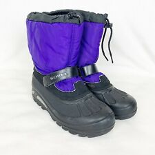 Sorel Women's Winter Boots Size 6 Purple Black Lined Made in Canada