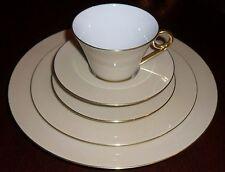 HAVILAND porcelain 5 piece setting LA ROSE DES SABLES - $680 retail - NEW