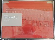 Microsoft Surface Pro 4 / 3 Type Cover Slim Backlit Keyboard | Bright Red