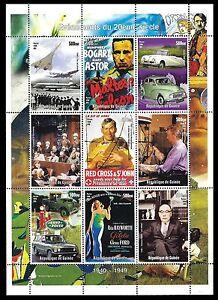GUINEA. Events of 20th century. Miniature sheet. 2000. MNH (BI#24)