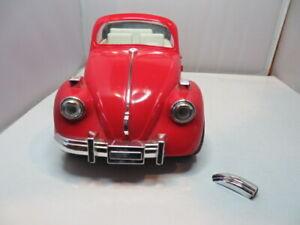 Vintage Volkswagen Beetle Red Lady Alarm Clock