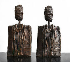 Paire de bronze anthropomorphe de Sébastiano Fini (1949-2003)