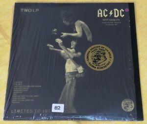 """AC/DC Ultra-Rare Purple Vinyl Double LP """"NOT GUILTY"""" (LIVE'77) SUPERB ITEM !!!"""