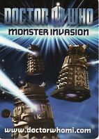 Doctor Who Monster Invasion  TEST SET CARD CHOOSE BASIC OR FOILS......001 TO 089