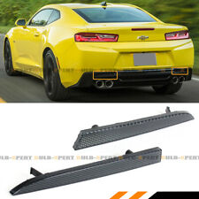 FOR 2016-2020 CHEVY CAMARO LT SS ZL1 SMOKE LENS REAR BUMPER DIFFUSER REFLECTOR