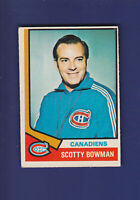 Scotty Bowman RC 1974-75 O-PEE-CHEE Hockey #261 (VGEX)