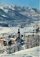 Alte Postkarte - Wintersportplatz Reit im Winkl mit Wildem Kaiser