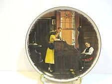 """Norman Rockwell """" The Marriage License"""" Plate"""