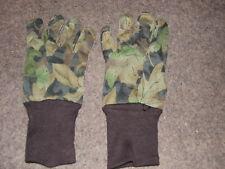 green camo tru-leaf hunting turkey gloves bow