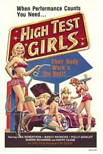 HIGH TEST GIRLS MOVIE POSTER 27x41 FOLDED ORIG.!! 1970S