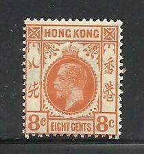 Album Treasures Hong Kong  Scott # 136  8c  George V  Mint LH