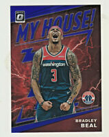 2019-20 Donruss Optic PURPLE REFRACTOR PRIZM MY HOUSE! #14 BRADLEY BEAL Wizards