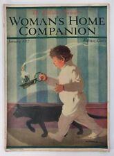 WOMAN'S HOME COMPANION Magazine 1917 BLACK CAT Boy Fashions Needlework Food Ads
