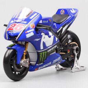 1/18 Yamaha YZR-M1 2018 MotoGP No.25 Maverick diecast motorcycle bike model Toys