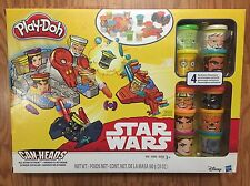NEW STAR WARS CAN-HEADS ALL-STAR ATTACK COMPLETE 10 CHARACTER PLAY-DOH SET $50