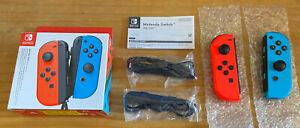 Nintendo Switch Joy-Con Controller Pair - Neon Red & Blue - Grade A Boxed