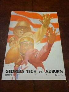 1944 Georgia Tech Vs Auburn Football Program