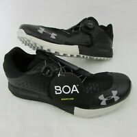 Under Armour Syncline Men's Hiking BOA Shoes Black Gray 3021373 001 Size 12