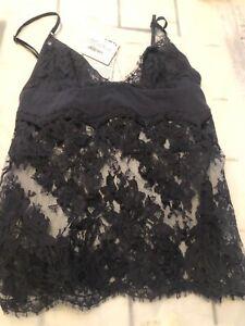 La Perla Maison  Dark Gray  color lace silk  camisole 400$!!! new size 2