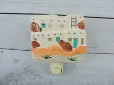 """Ceramic Southwestern Adobe Wall Night Light Hand Painted Home Accent Decor 5"""""""