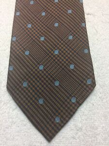 BANANA REPUBLIC MENS TIE BROWN WITH BLUE 4 X 59 NWOT