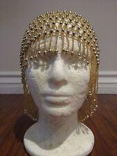 Black/Gold Bead Hat /Cap For Belly Dancer