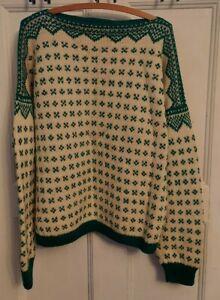 Vintage 60s Marius & Stein Eriksen Sportsmode Norway Wool Ski Sweater L/XL