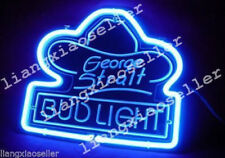 George Strait Bud Light 3D Carving Acrylic Beer Bar Pub Real Neon Sign FAST SHIP