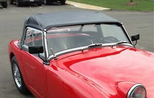 New Black Convertible Top Austin Healey Sprite Bugeye 1958-1961 Robbins Made USA
