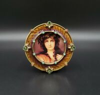 "Jay Strongwater 3"" Jeweled Round Photo Frame EXCELLENT"