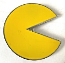 Yellow Pac-Man Belt Buckle Arcade Video Game Metal Unisex 80's Accessory