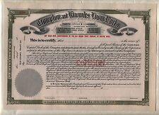 Crompton & Knowles Loom Works Stock Certificate Rhode Island
