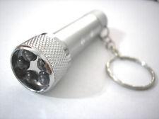 "LED Key Chain Flashlight Ultra Glow Light Silver 2.5"""