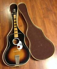 Vintage KAY Acoustic Flat Top Guitar Sunburst? 1960's NICE w/Case