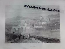 GRAVURE 1860 ITALIE TURIN