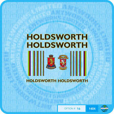 Holdsworth - Bicycle Decals Transfers Stickers - Black Fill & Gold Key - Set 16