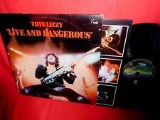 THIN LIZZY Live and dangerous DOUBLE LP 1978 AUSTRALIA EX+ Inners VERTIGO label